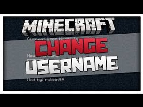 how to change your user on minecraft