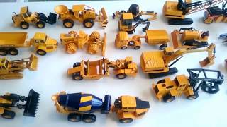 Construction Vehicles toys for kids: UNBOXING CAT Backhoe Excavator Dump Truck Cement Mixer Loader