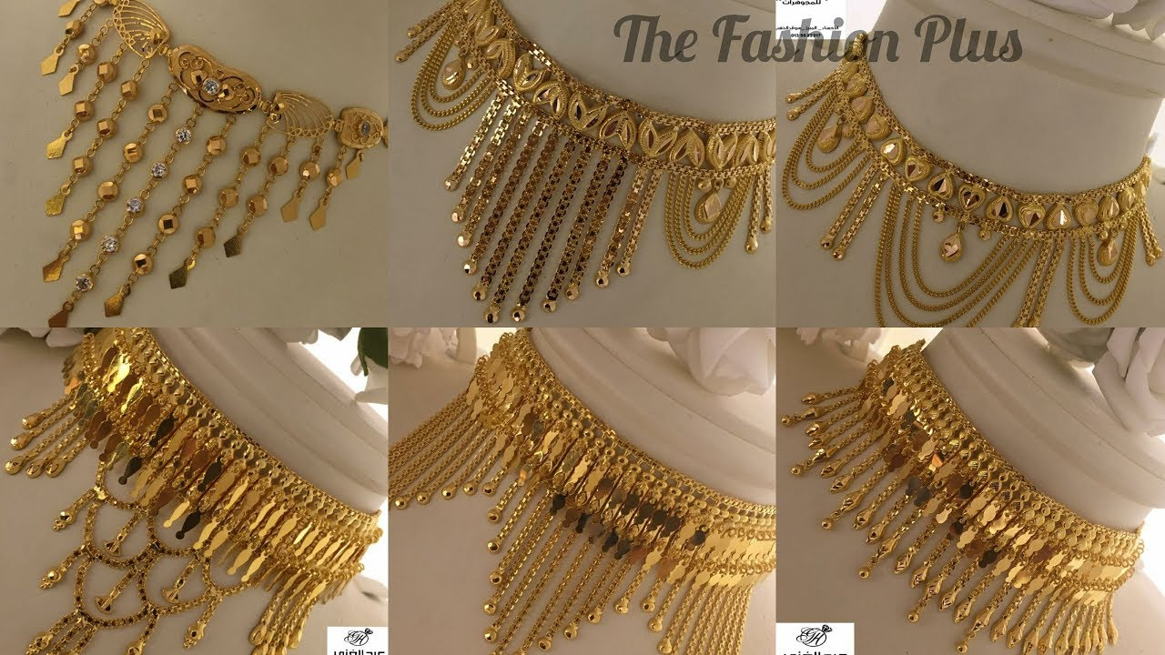 Arabic gold choker designs gold CHOKER necklaces ARABIAN designs