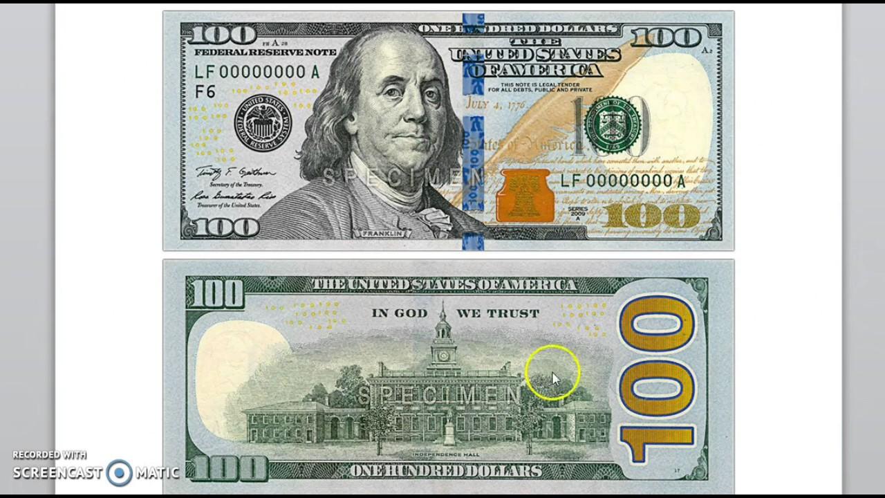 Znalezione obrazy dla zapytania new $100 bill
