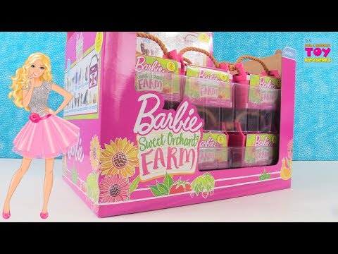 Barbie Sweet Orchard Farm Blind Bag Full Box Opening Review | PSToyReviews