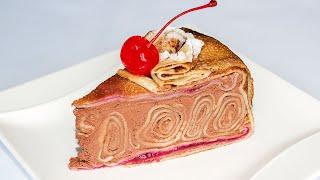 БЕЗ ВЫПЕЧКИ в Духовке Потрясающий Блинный Торт с Шоколадным Кремом Домашний Рецепт Ирина Кукинг