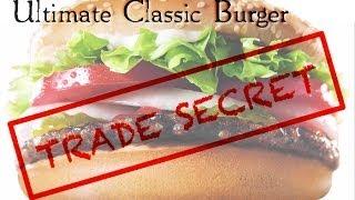 Ultimate Classic BURGER - Secret Restaurant Recipe /grinding hamburger beef