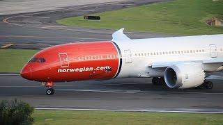 Norwegian 787-9 Quiet Takeoff from San Juan (TJSJ) [HD]