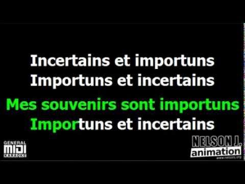 *** Jeanne Moreau - Tout morose *** karaoké