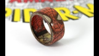 Superhero Ring Made With Comic Books - Spiderman Ring (How To)