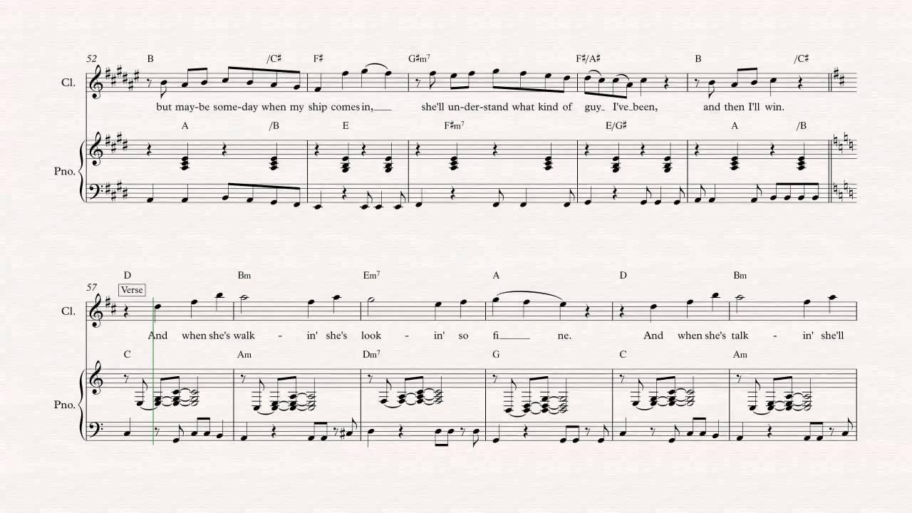 Clarinet uptown girl billy joel sheet music chords amp vocals