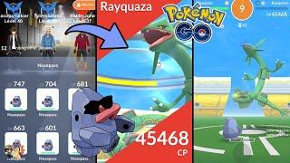 Pokémon GO | NOSEPASS ARMY VS RAYQUAZA RAID BOSS! (Level 5) | Legendary Gym Raids Ep. 58.5