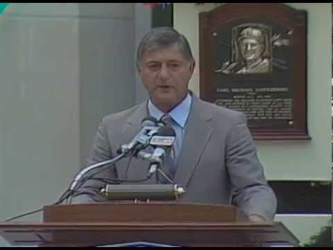 Carl Yastrzemski 1989 Hall of Fame Induction Speech