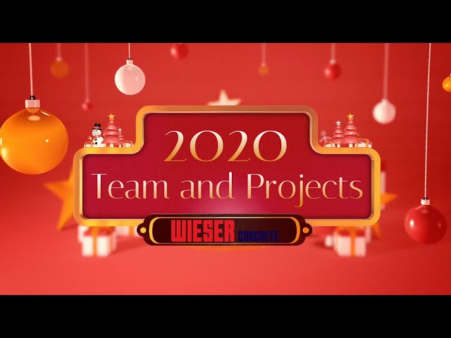 2020 Wieser Concrete Employees and Projects