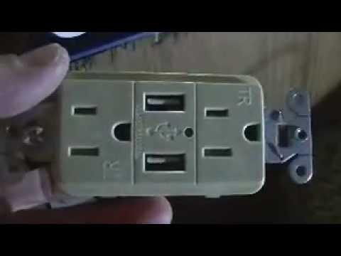 Hubbell USB Charger Installation - YouTube