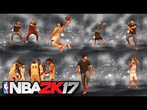 NBA 2K17 - All Celebrations, Animations, Jumpshot, Dunk Moves (Showcase)