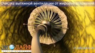 ГК Эколайф. Очистка вытяжной вентиляции от жира. http://vnt24.ru/