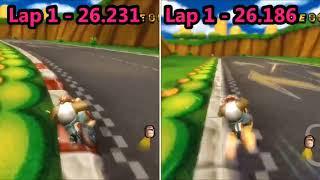 [MKW Comparison] Mario Circuit (No Glitch) - Rocky (TAS BKT) VS Rocky (Former TAS BKT)