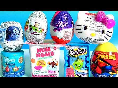 Kids Toys Surprise NUM NOMS Dory Shopkins 4 Toy Story MLP My Little Pony Kinder Egg Hello Kitty