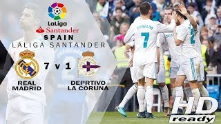 Real Madrid vs Deportivo 7-1 LaLiga - Pesta Gol Berdarah-darah Madrid |  Highlights 21-01-2018