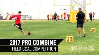 Field Goal Competition | 2017 Kohl's Kicking Camp Pro Combine