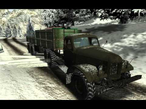 Russian winter road mod.ATS.goba6372