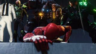 Spider-Man PS4 - Spiderman vs 6 Villain Bosses Epic Cutscene (Marvel