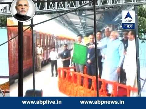 PM Narendra Modi inaugurates the Udhampur-Katra rail link