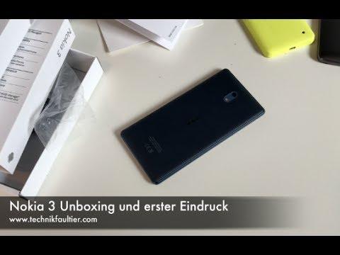 Nokia 3 Unboxing und erster Eindruck