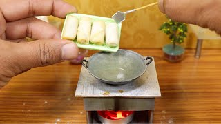 Miniature Chicken Spring Rolls I Mini real cooking with MDC
