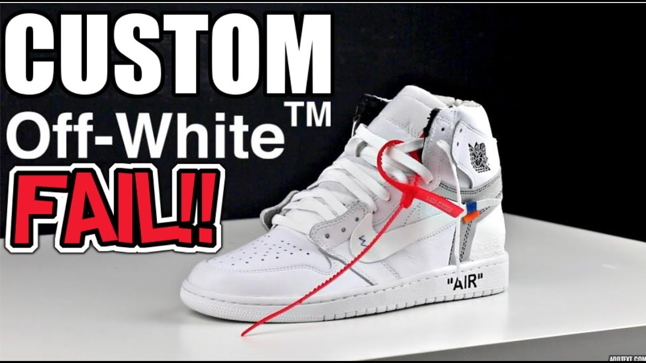 1501c6fb1b3dcf CUSTOM OFF WHITE X JORDAN