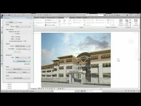 Como hacer renders exteriores en Revit; Tutorial Revit   MODELARQ