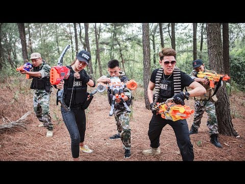 LTT Nerf War : SEAL X special task Fight Attack criminal group use skill Nerf Guns