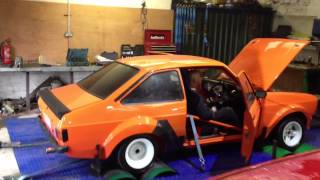 Ford Escort Mk2 Rally Car on the Powermax Rolling Road