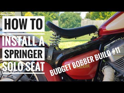 Budget Bobber Build #11    How To Install An Ebay Solo Springer Seat On Yamaha Virago XV250