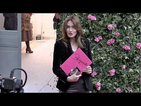 Carla Bruni Sarkozy at Schiaparelli Haute Couture Fashion Show in Paris