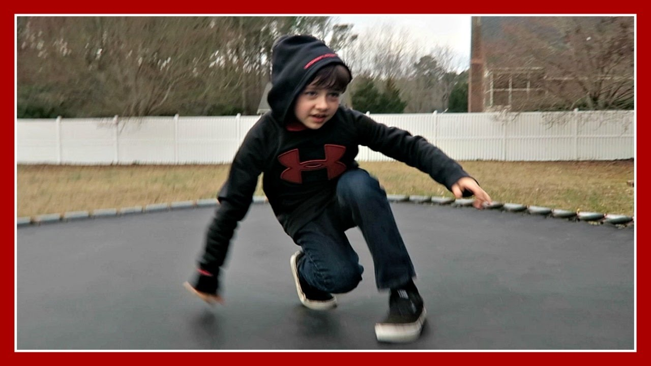 JUMPING ON A DANGEROUS TRAMPOLINE! 😨 ~ VLOG - YouTube
