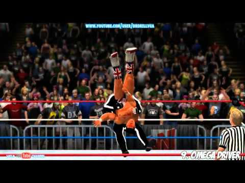 WWE 13 DLC NEW Moves Pack Gameplay ( Moves List In Video Description )