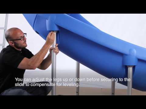 Rogue2 Pool Slide Assembly & Installation   S.R.Smith