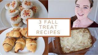 3 Delicious Fall Treat Recipes