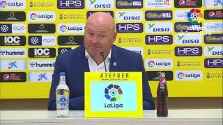 Rueda de prensa Pepe Mel tras el UD Las Palmas vs CD Tenerife (0-0)