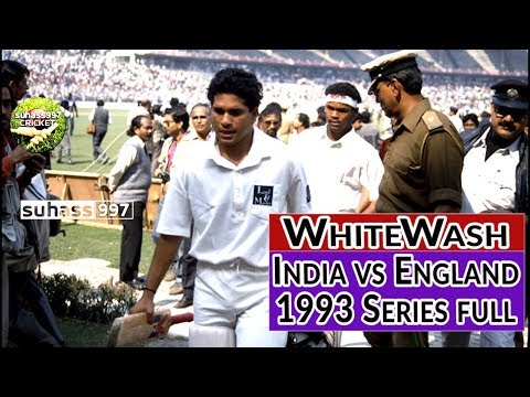 India vs England 1993 Test series Complete - the Whitewash