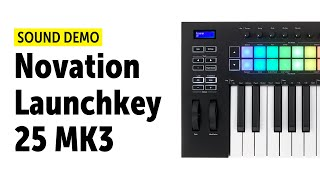 Novation Launchkey 25 MK3 - Arpeggiator, Scales und Chord-Mode Demo (no talking)
