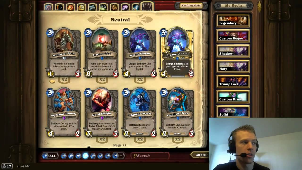 Hearthstone what cards should i craft youtube for What craft should i do