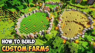 How to Build AMAZING FARMS in Minecraft! (Tutorial)