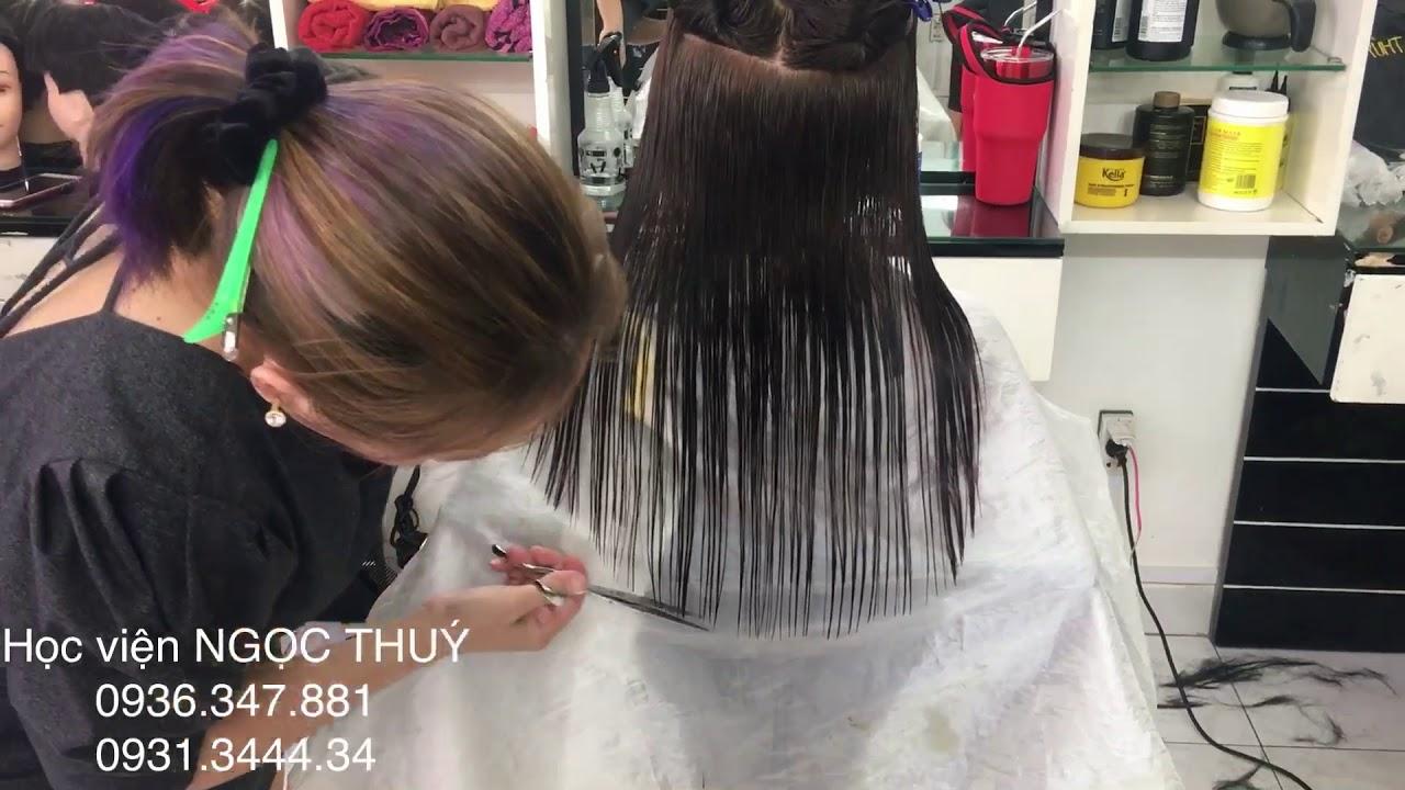 Học cắt tóc ngang bầu đúng chuẩn.Lớp luôn được thực hành mẫu miễn phí.HỌC VIỆN NGỌC THUÝ 0936.337881