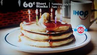 IHOB is back to IHOP 60c pancakes July 17 Commercial  2018
