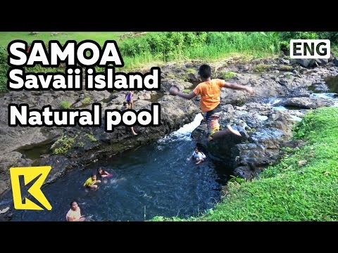 【K】Samoa Travel-Savaii island[사모아 여행-사바이섬]천연 수영장의 아이들/Natural pool/Children