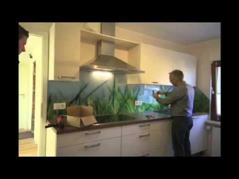 Montage einer Kchenrckwand aus Glas  YouTube