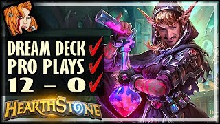 DREAM DECK✅ PRO PLAYS✅ 12-0✅ - Rise of Shadows Hearthstone