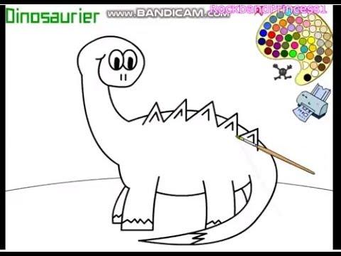 Dinosaur Coloring Games - YouTube
