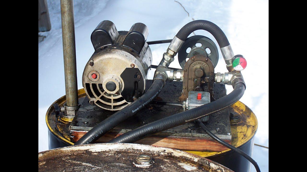 Waste Oil Pump Used Motor Oil Electric Motor Gear Transfer