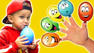 Mark and Daddy finger family   Kids song   Learn Colors With Balloons with Mark Land