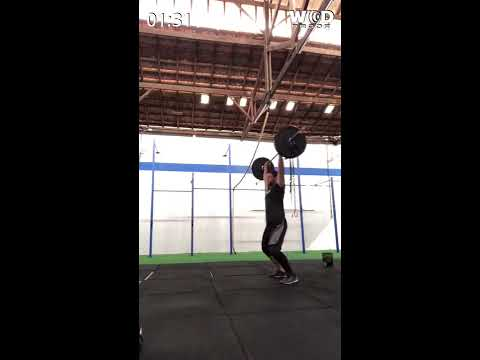 Lucas de Oliveira - Crossfit utinga - 28 repetições de clean and jerk - 135libras - 1:32